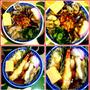 天ぷら蕎麦に浅利・ナメコ蕎麦
