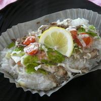 鮭とレタスのレモンマヨご飯