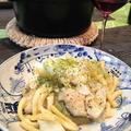 「キャベツと鱈、パスタのクミン風味蒸し鍋」。 by イェジンさん