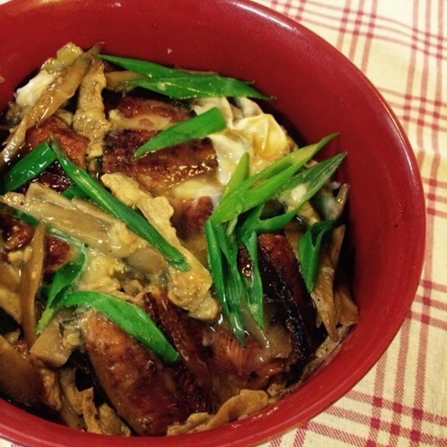 鰻の柳川風丼