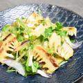 デパ地下デリ風、グリルたけのこのサラダ。酢味噌味のドレッシングで和なサラダ。