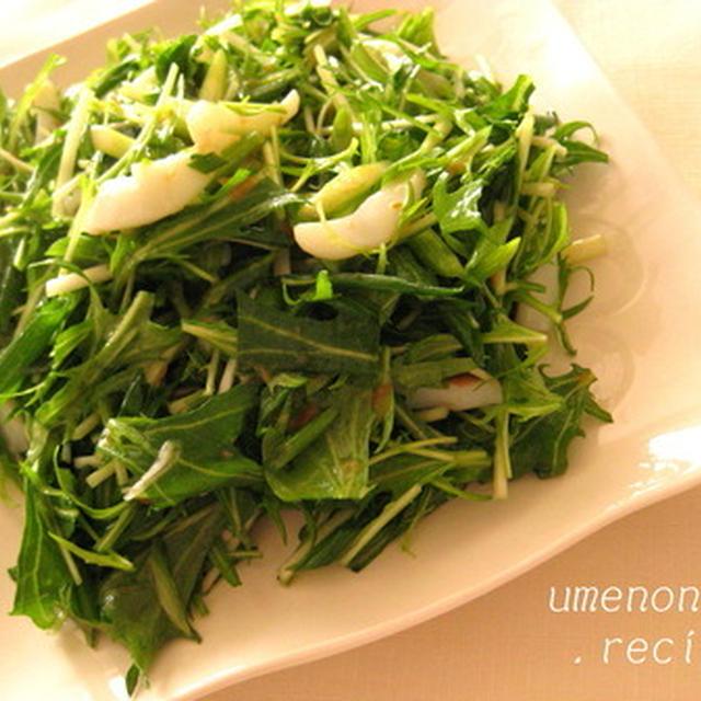イカと青ねぎ・水菜のマリネ*・゜゚・*:.。..。.:*・゜
