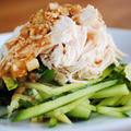 濃厚なコクと風味のピリ辛さっぱり特製ごまダレ♪とってもヘルシー&美味しい棒棒鶏(バンバンジー)