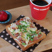 (〃)´艸`)オイシー珈琲とピザトースト ✿ キムチ鍋♪