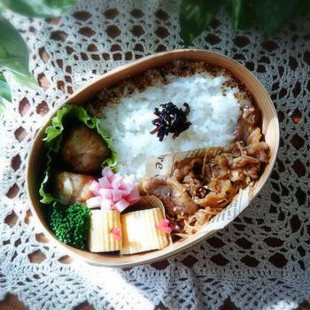 No.34 焼き肉と揚げ焼売のお弁当♪