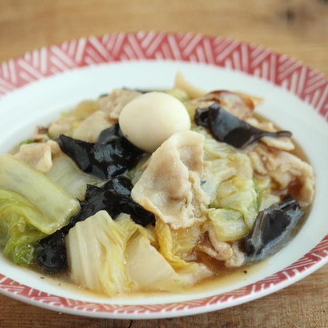 【レシピ】豚バラと白菜のうま煮あんかけ丼ぶり