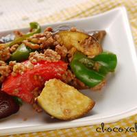 夏野菜のカラフルマーボー