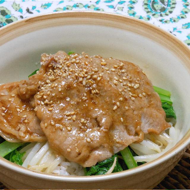 野菜たっぷりの簡単ごはん!生姜焼き豚丼