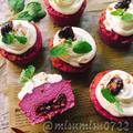 お砂糖なし紫芋とプルーンのマフィン(動画有)【粉なし低糖質ケーキ】