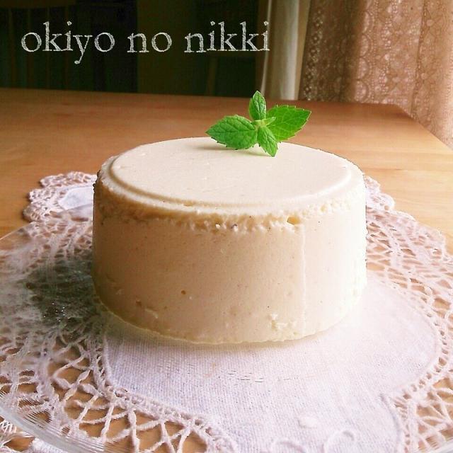 バニラ香る♪お豆腐スフレレアチーズケーキ
