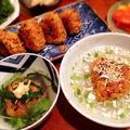 余った秋刀魚の炊き込みご飯で焼きおにぎりスープ茶漬け
