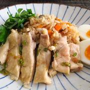 鶏まるごと炊き込みご飯 ~和風カオマンガイ