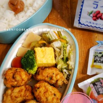 2021.6.5 鶏ひき肉と豆腐のナゲット弁当