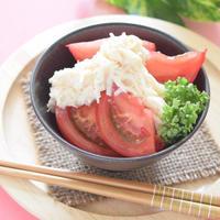 トマトのホタテ缶マヨサラダ♡ギックリ腰になっても作れるレシピ(泣!)