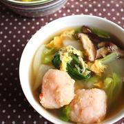 お鍋の翌日に♪海老のつみれ入り具だくさんスープ
