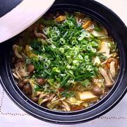 体が温まる♪スタミナ満点!ニンニクと生姜の根野菜鍋