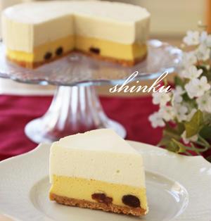 チーズケーキ好きに捧げる*二層のチーズケーキ