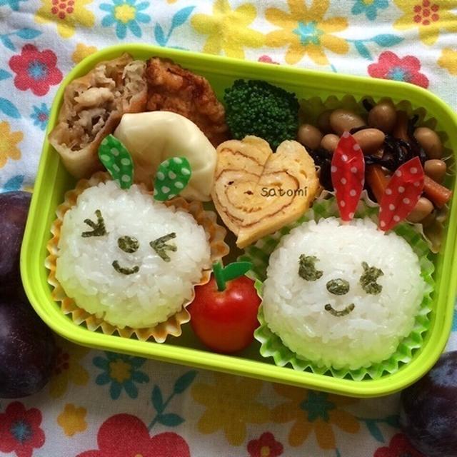 幼稚園弁当☆スーパームーンで願い事がかなう?! ウサギさん キャラ弁