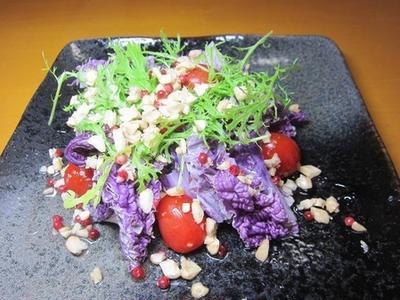 綺麗な紫白菜のナッツサラダ~v(^0^)/