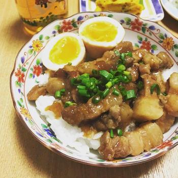 シャトルシェフで作る魯肉飯(ルーローファン)