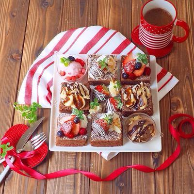 バレンタインに♡フライパンで出来ちゃうチョコケーキ