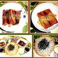 今夜は、鰻丼に笊蕎麦