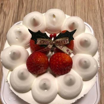 クリスマスケーキ引き換え。