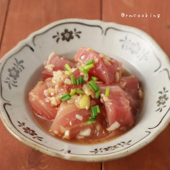 【レシピ】お刺身で簡単副菜!ごま油香る漬けマグロ