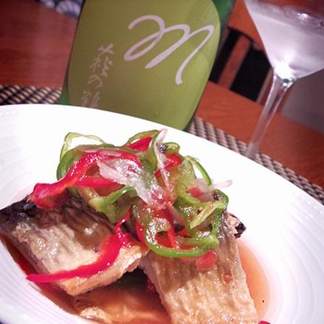 秋刀魚のエスカベッシュ、秋刀魚の塩からじゃがバタ焼き、赤南瓜ニョッキ胡桃バターソース