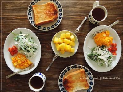 今朝の朝ごはん。