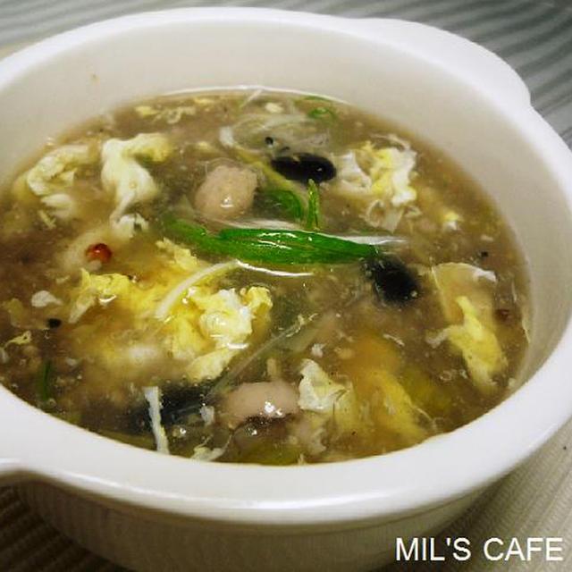 ミルミルの*プルプル鶏むね肉の雑穀スープ*