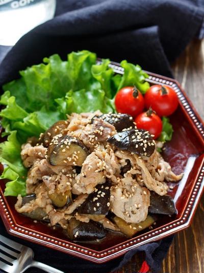 豚こまとなすの甘辛生姜焼き【#作り置き #お弁当 #ヘルシー #主菜】
