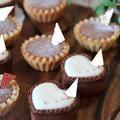 マシュマロで作る チョコタルト&チョコチーズタルト by 野島ゆきえさん
