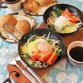 チリパウダーで新鮮朝食~スキレットでチーズ目玉焼き