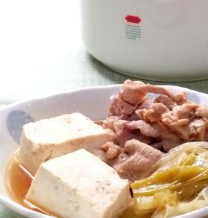 豚こまでシンプル肉豆腐☆