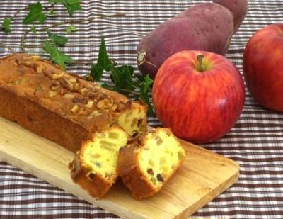 秋の収穫祭☆りんごとさつまいものケーキ