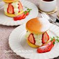 【ティファール✕レシピブログ】フライパンでOK☆チーズクリーム&いちごのサンドケーキ(オーブンも回転台もナッペもいらないよっ♪)
