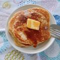 デュラムセモリナ粉のホットケーキ(自家製酵母使用)
