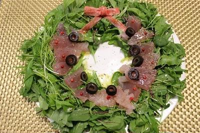 ★クリスマス★カルパッチョ風リースサラダ