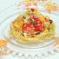 『オレンジ香る♪甘い彩りパスタ』☆マ•マー 早ゆで3分スパゲティで♪食べたくなったらすぐに♪♪