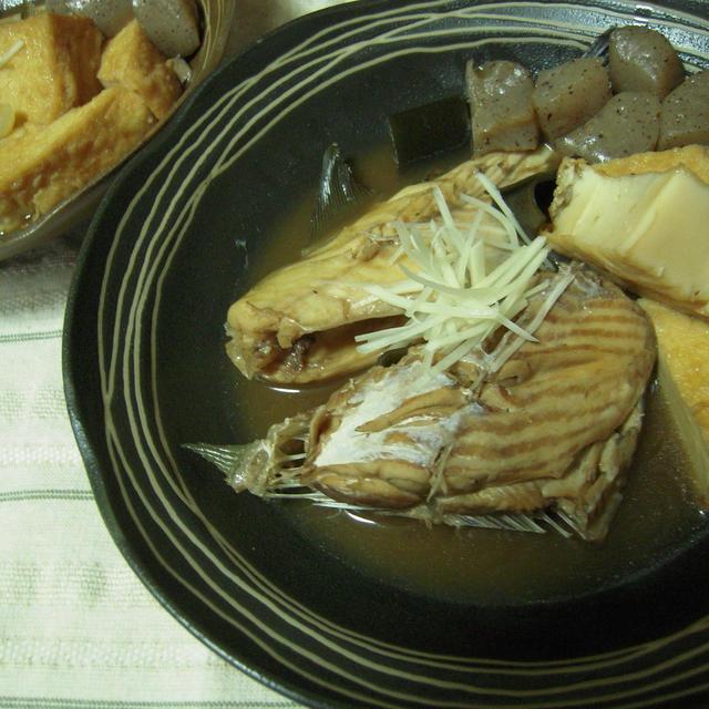 カワハギの煮付けと福島の日本酒