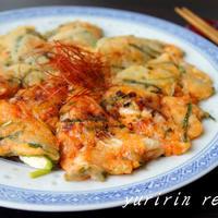 ふんわり豆腐とキムチのチヂミ