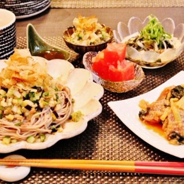 夏の香味野菜たっぷり晩御飯
