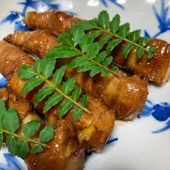 筍の豚肉巻き・甘辛醤油味ツヤピカ!