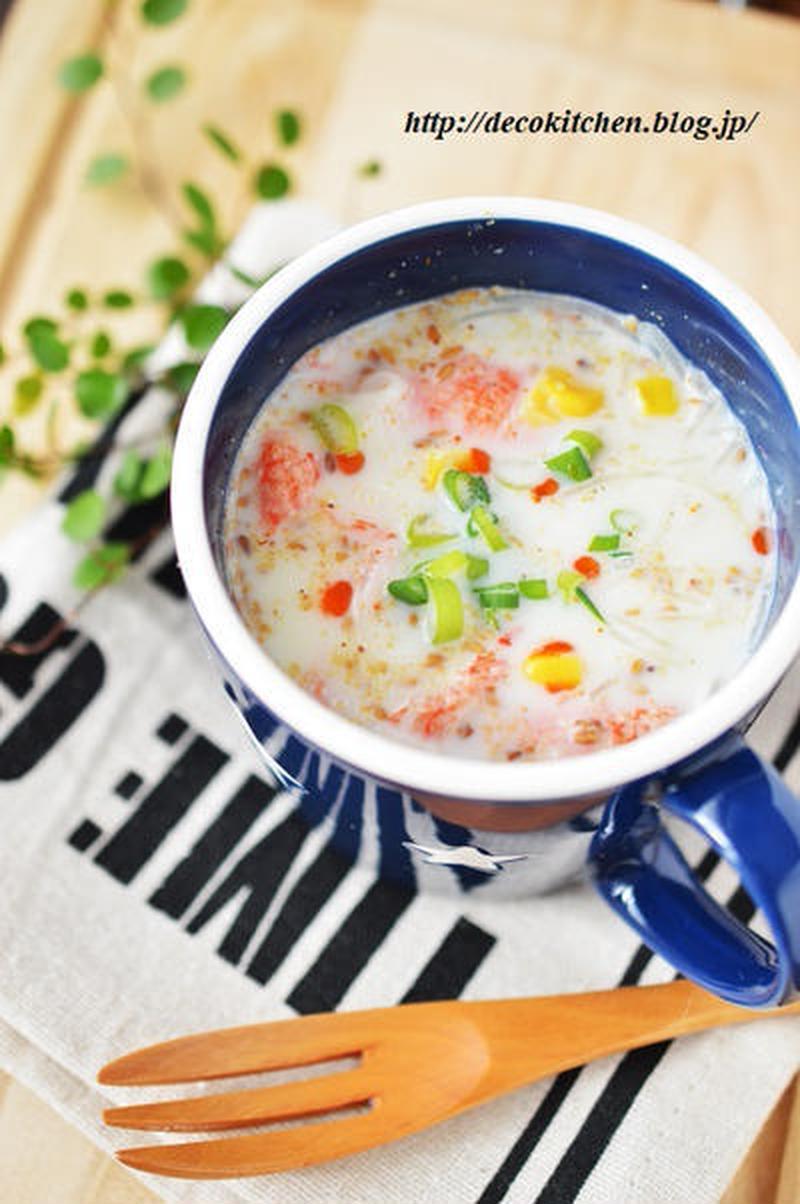 マグカップで簡単1人分♪レンジで作る朝食スープレシピ