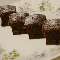 黒豆入りグランマニエ・チョコケーキ