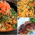■晩ご飯&常備菜など。【焼きそば/ハンバーグ/豚肉・里芋煮と 切り干し大根の煮付け】