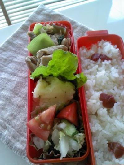 レシピ豚コマとチンゲン菜の塩ダレ炒め弁当