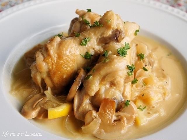 鶏手羽元のレモンクリーム煮