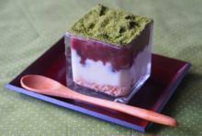 【食物繊維ちょい足し・ヨーグルト】抹茶あずきヨーグルト/器やスタイリングについて